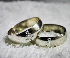 Anchor Wedding Ring
