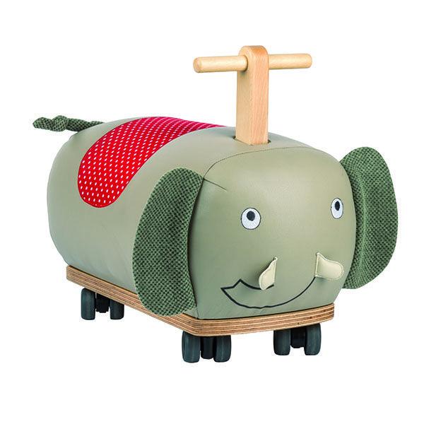 Ein Rutscher für Kleinkinder aus Massivholz und weichem Kunstleder, sehr weich gepolstert. Ein Geschenk, dass dem Kind lange Freude bereiten wird.