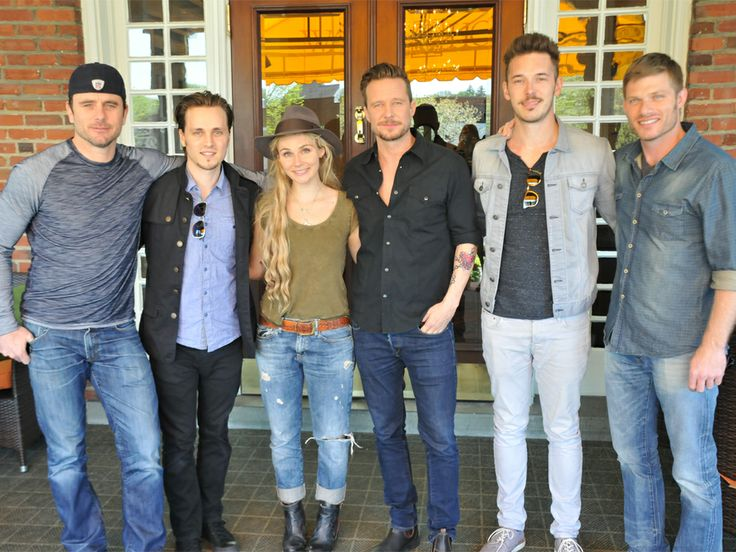"Paramour at the Wayne Hotel had the pleasure of hosting the cast of ABC's ""Nashville"" yesterday for lunch before they visited the 6abc studio in Philadelphia to promote the ""Nashville"" Concert Tour, and performed live last night at the Tower Theater. Pictured from left to right; Charles Esten, Jonathan Jackson, Clare Bowen, Sam Palladio, Will Chase and Chris Carmack."