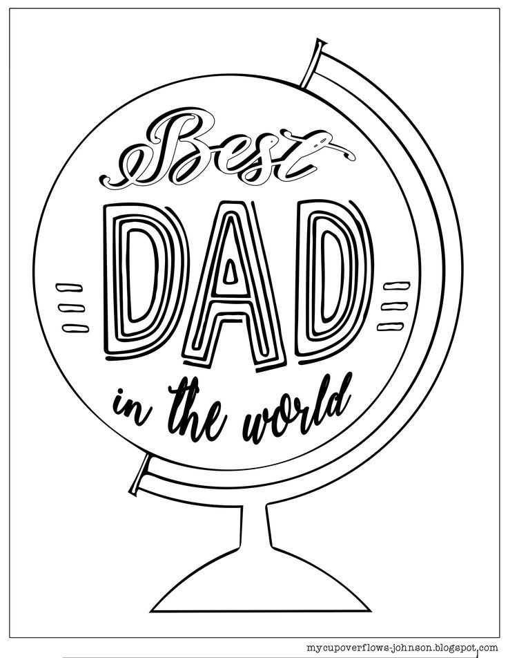 Father's Day Coloring Pages Fathers day coloring page