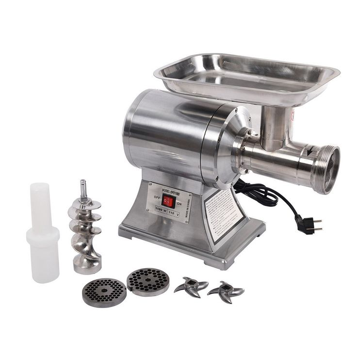 This commercial heavy-duty electric meat grinder is great for meat shop, supermarket or cook use.