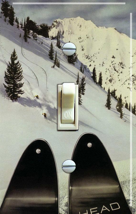 Vintage Ski Switch Plate