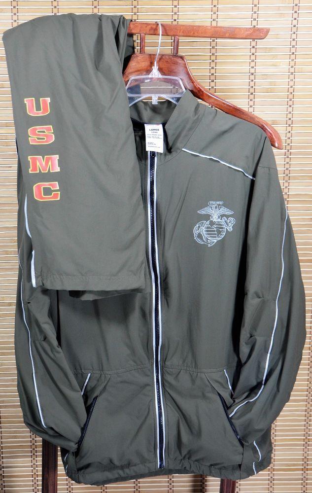 2a68e25de USMC New Balance Running Track Suit Jacket Pants Large Long PT Marine Corps   NewBalance