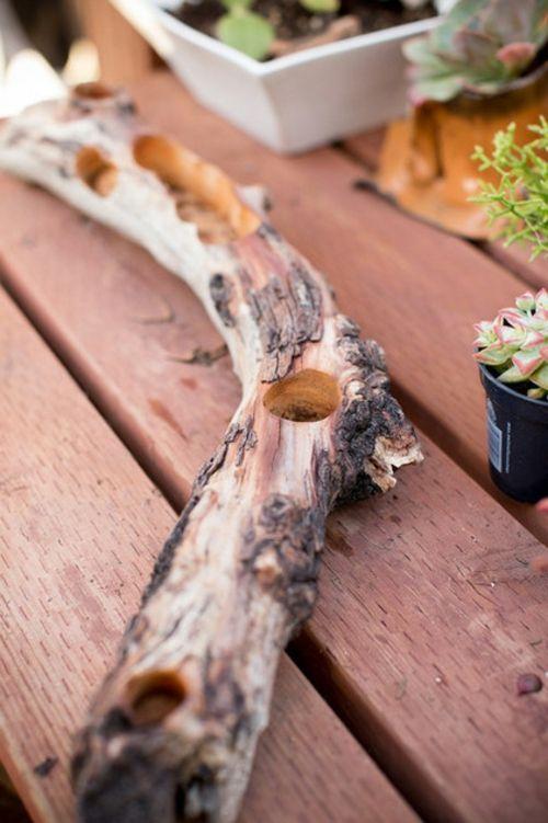 Schöne Dekoration aus Treibholz selber machen originell posiion