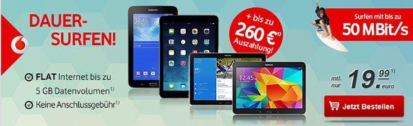 5GB Vodafone Internet Flat mit TOP Tablet ab 1€ http://www.simdealz.de/datentarif/vodafone-lte-internet-flat-mit-top-tablet/