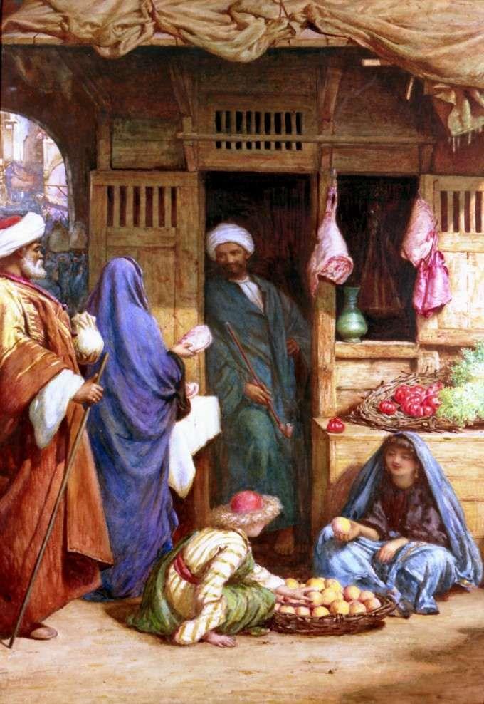 HENRY WALLIS (1830 - 1916) A Street Scene in Suez