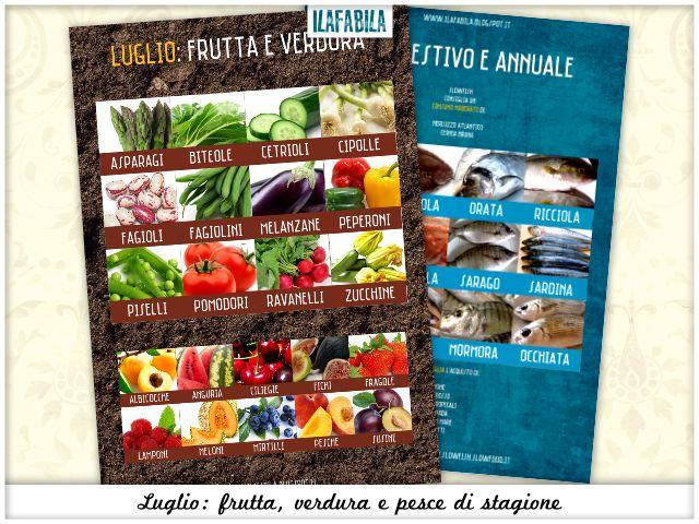 Luglio - Frutta, Verdura e Pesce