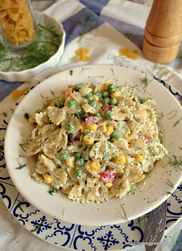 Vegan cold pasta salad with tartar sauce! Filling, yummy, healthy!