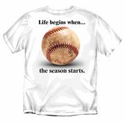 Life Begins when....  Baseball Season Starts