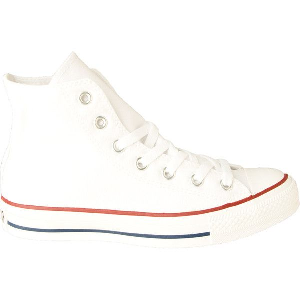 Converse Chuck Taylor All Star Hi Shoe ($60) ❤ liked on Polyvore featuring shoes, sneakers, converse, slim shoes, converse trainers, converse footwear, star shoes and converse sneakers