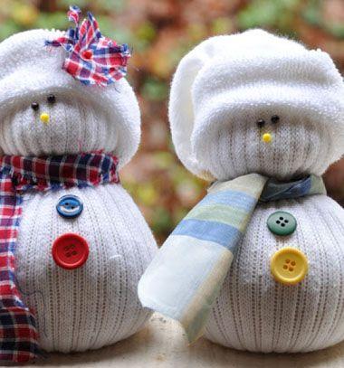 Adorable sock snowman / Zokni hóemberek / Mindy - craft tutorial collection