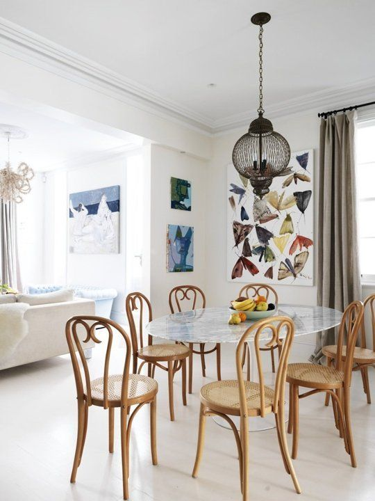 Moroccan Minimalism Meets Tropical Vibe Professional Project   Apartment  Therapy oval tulip table with bentwood chairs32 best Saarinen Tulip Table images on Pinterest   Tulip table  . Round Dining Table Apartment Therapy. Home Design Ideas