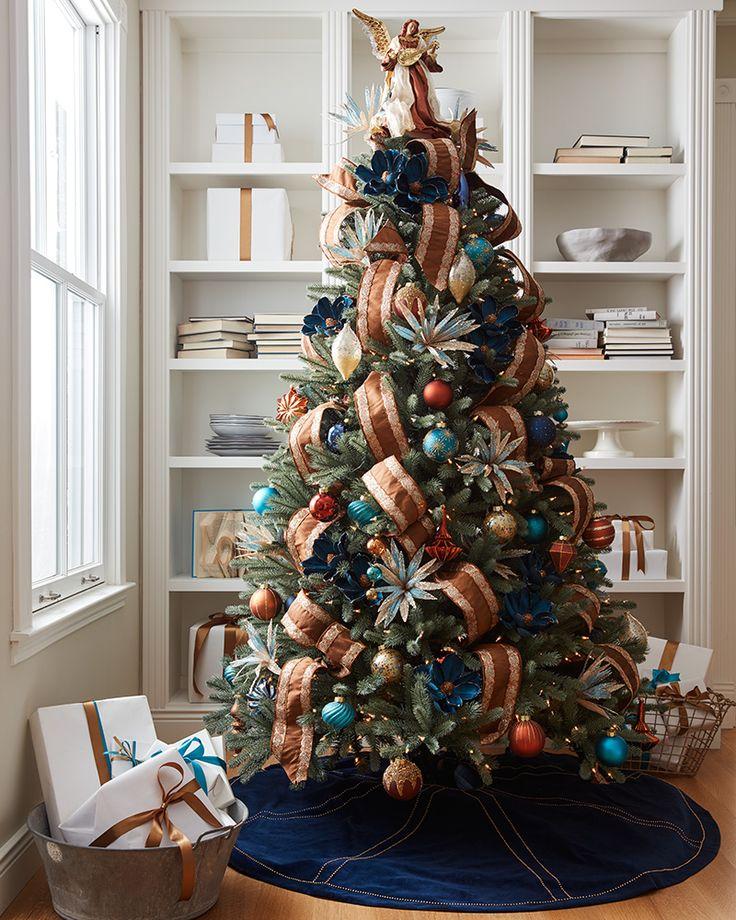 Georgetown | Ribbon on christmas tree, Metal christmas ...