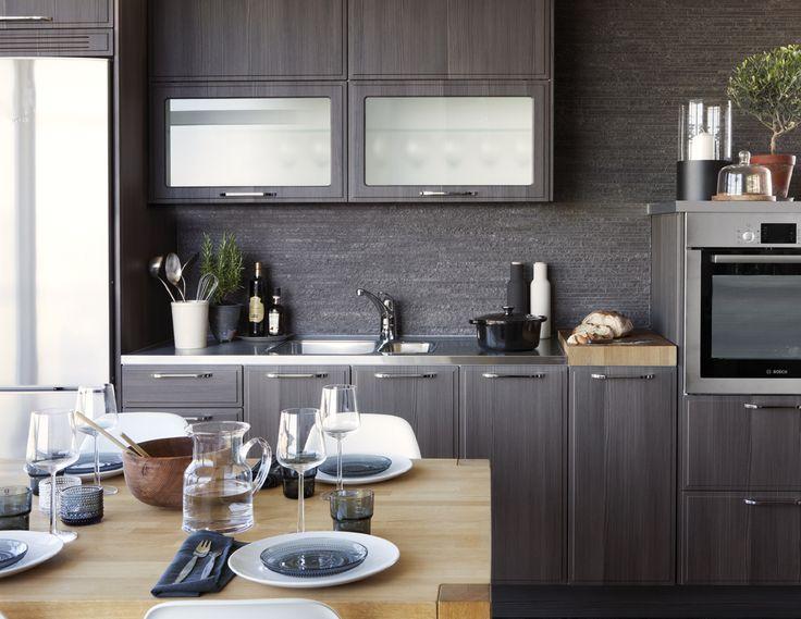 Modernt kök. Modell: Facett, Färg: Nordic Grey | NordDesign Kök