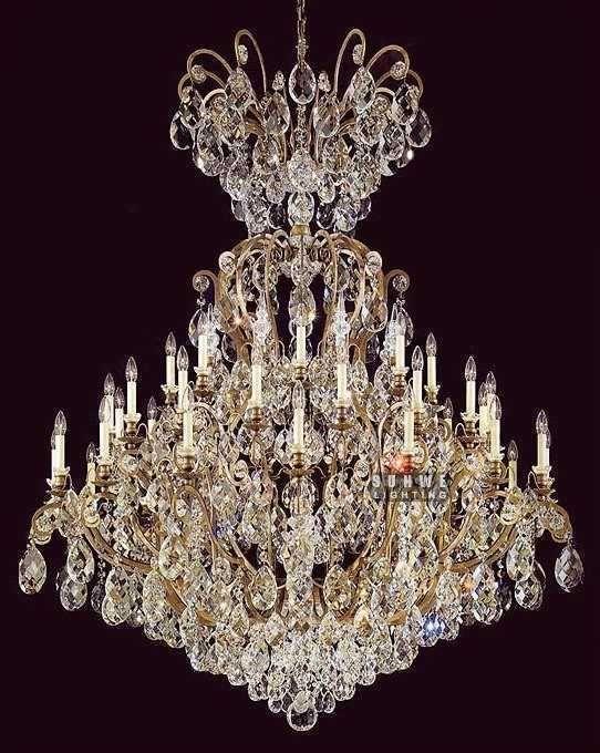 Crystal Tm Wrought Iron Aliexpress Com Beautiful Chandelier Fixture 41 Lights Large Foyer Lighting E9048