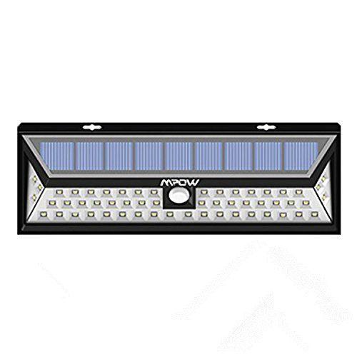Mpow Lampe solaire 54 LED extérieure étanche IP65 sans fil 1188 lumens Luminaire exterieur/ Spot exterieur 120 ° Grand Angle reglable avec…