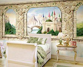 Find This Pin And More On Фрески By Dsartstone. CASTLE WINDOW MURAL    Princess ...