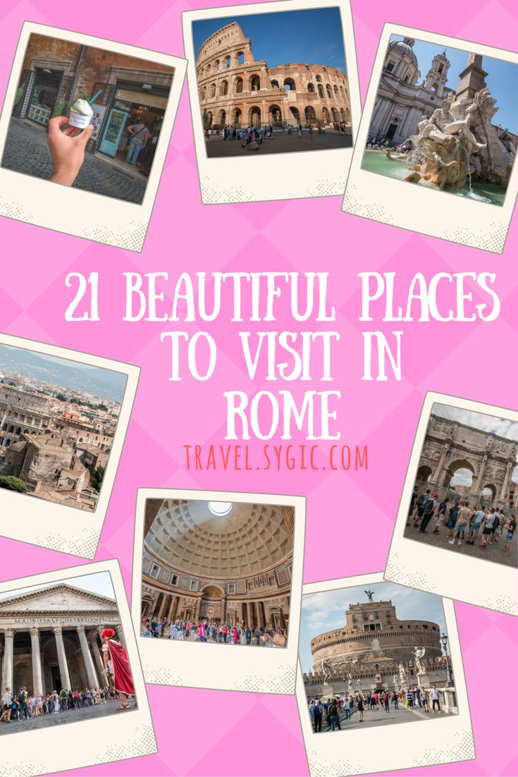 Plan your itinerary with Sygic Travel! Check 21 amazing places to see and visit in Rome, Italy.