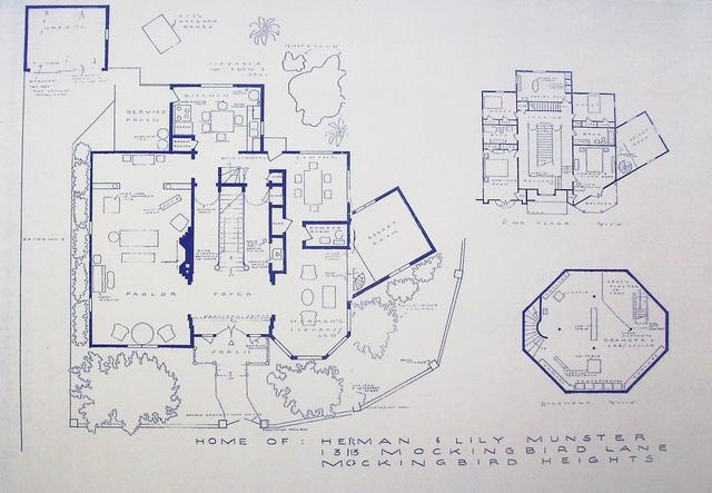 Floor plan - Munsters House, 1313 Mockingbird Lane.