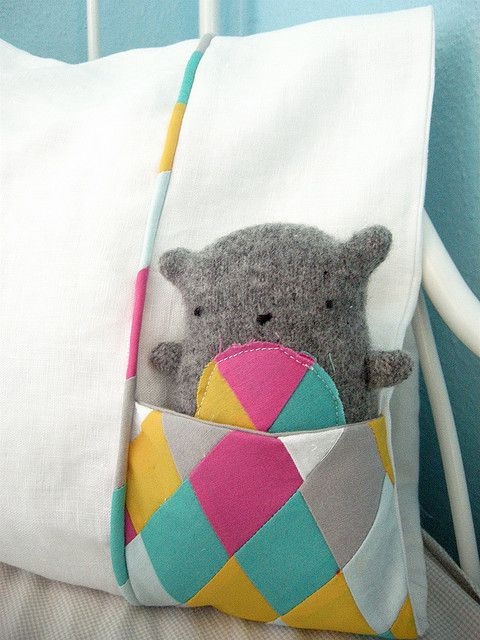 Stuffed Animal Pillows With Pockets : Pockets, Pillows and Sew on Pinterest