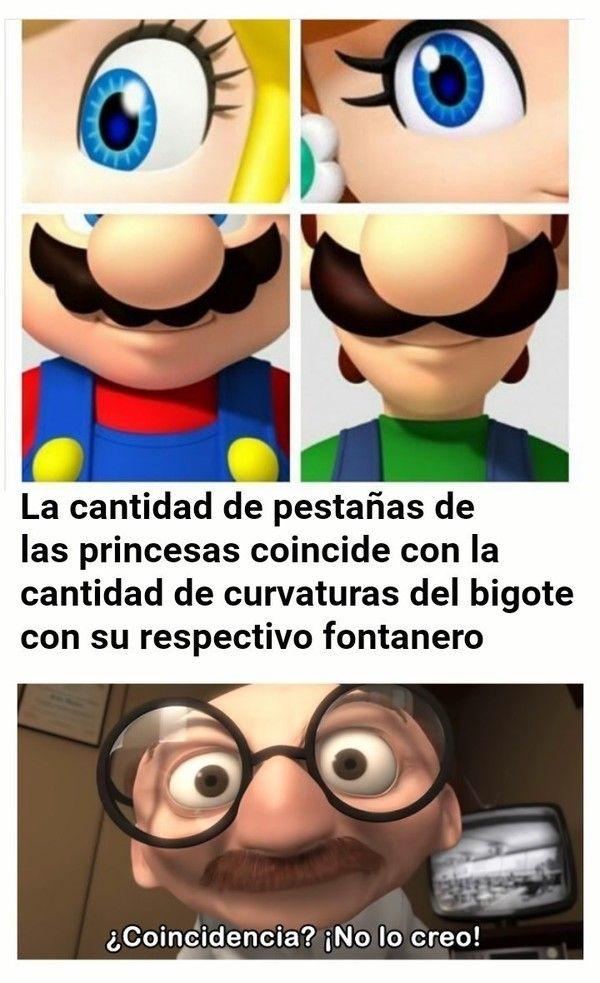 La Gran Coincidencia Entre Mario Luigi Y Las Princesas Book Memes Memes Funny Memes