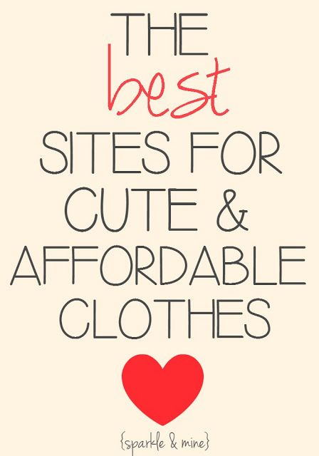 The Best Sites to Shop for Trendy and Affordable Clothes!