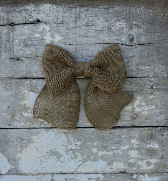 Burlap Bow for Wreath Burlap Wreath Bow by BurlapBlooms on Etsy