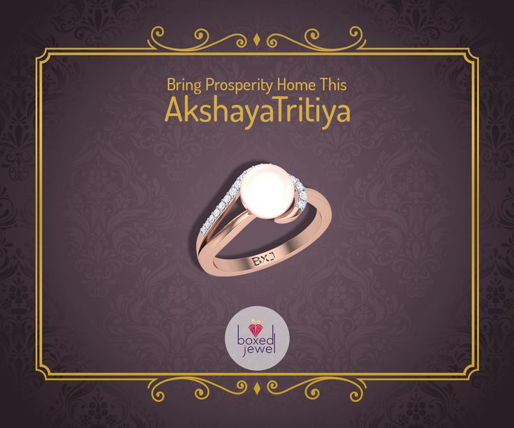 Bring Home Prospertiy along with the Ineffable Charm of the Pearl this #AkshayaTritiya.   #FestivalJewelry #Jewelry #PearlRing