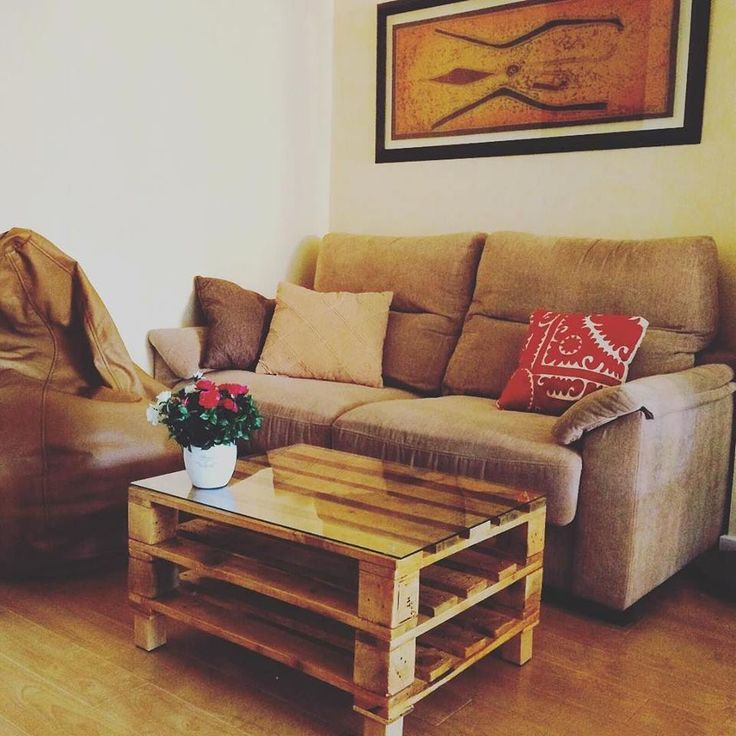 Just two #Pallets Table with Glass Top - 20 DIY Pallet Coffee Table Ideas | 101 Pallet Ideas