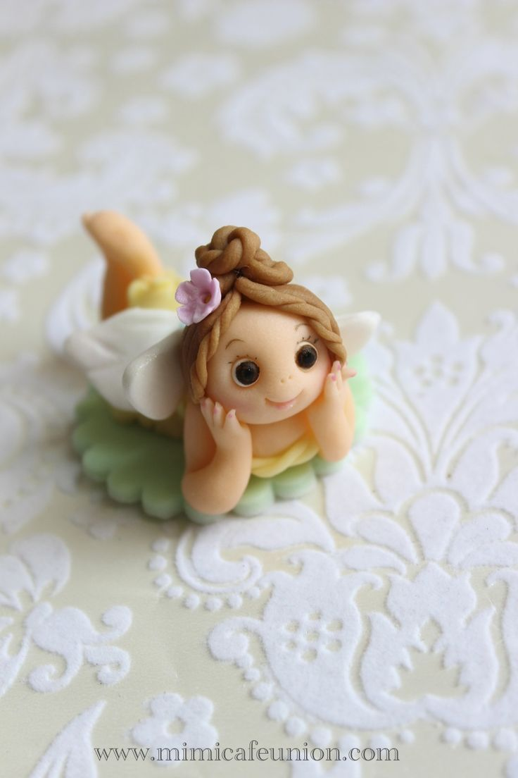 Fondant fairy doll cupcake toppers by mimicafe union for How to make fairy cupcakes
