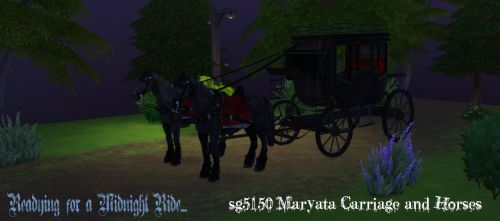 Sims 4 CC's - The Best: sg5150 Maryata Carriage and Horses ...