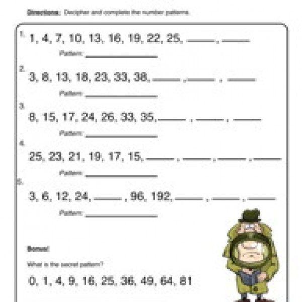 All Worksheets Number Patterns Worksheets Year 7 Free – Number Pattern Worksheets