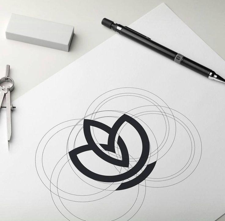 A Daily Source For Logo Design Inspiration — Beautiful skincare logo design process.