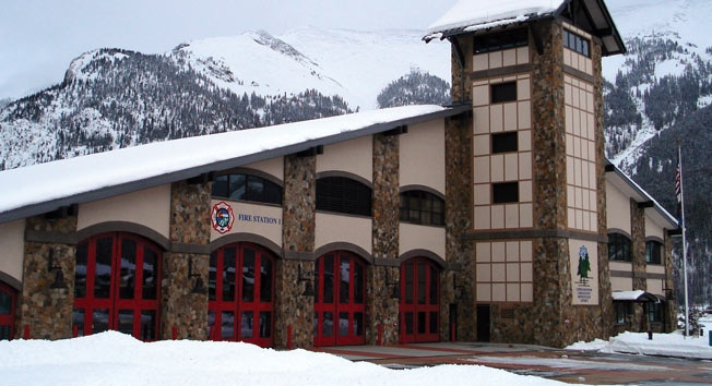 Copper Mountain, Co Fire Station  Four-Fold Doors #firestationdoors #four-folddoors