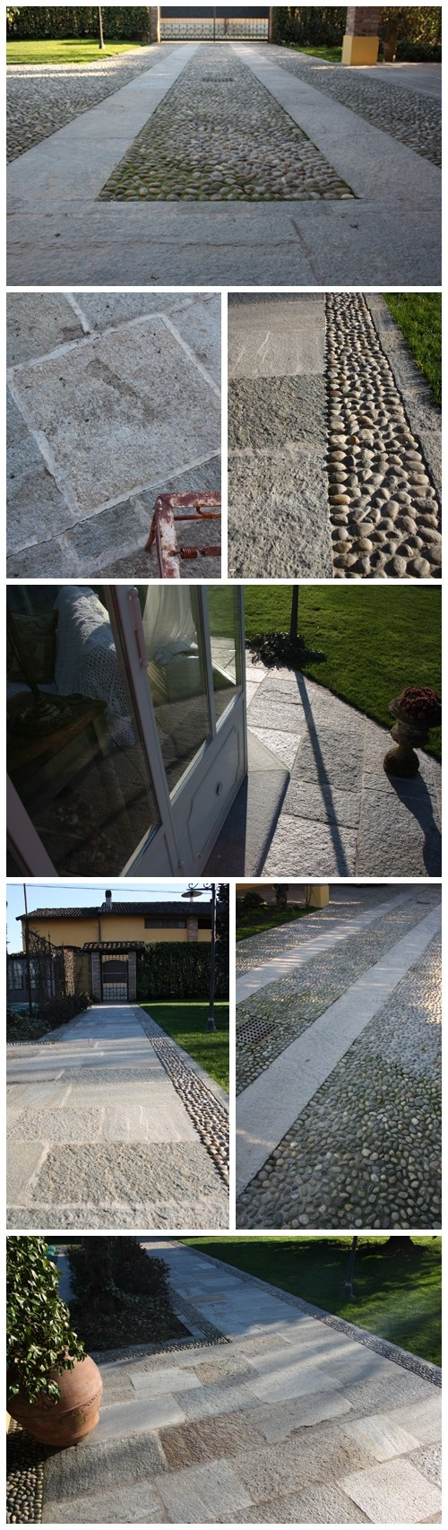 #Pebbles and Luserna's #stones remind a calssic old style #garden