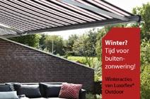 Winter? Tijd voor buitenzonwering van Luxaflex Outdoor.