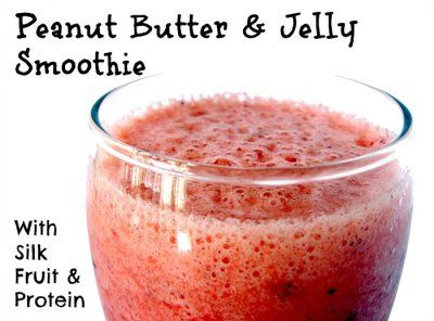 Peanut Butter & Jelly Smoothie With Silk Fruit & Protein Recipe ...