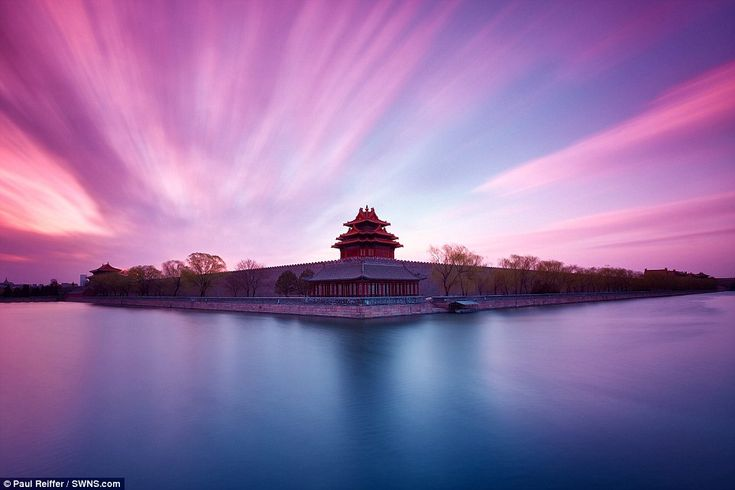 Forbidden City sunrise, Beijing, China: From the North-West corner of Beijing's famous For...