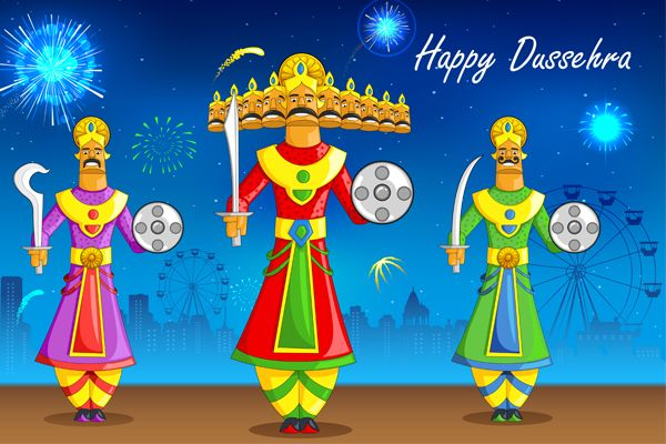 Why is #Dussehra celebrated?  Dussehra celebrates the #Hindu #God #Rama's victory over the demon king #Ravana, in an epic battle symbolizing the triumph of good over evil. On a day to be joyous, to indulge in #festivities, food and glee, #Dikonia wishes all a very happy, spectacular and auspicious Dussehra!