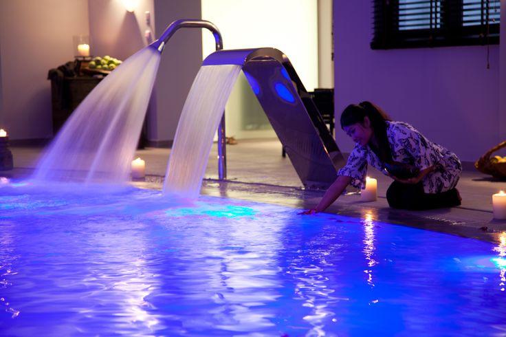"spa area - swimming pool  / 5 star hotel "" du lac "" / Ioannina Greece / interior designer Sissy Raptopoulou"