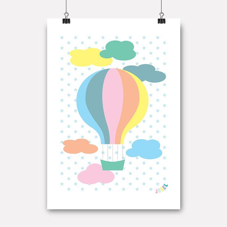 jubel, jubelshop, airballoon, luftballong, plakat, poster, posterdesign, pow, kidsdesign, kidsroom, nursery, childrensdesign, norwegiandesign