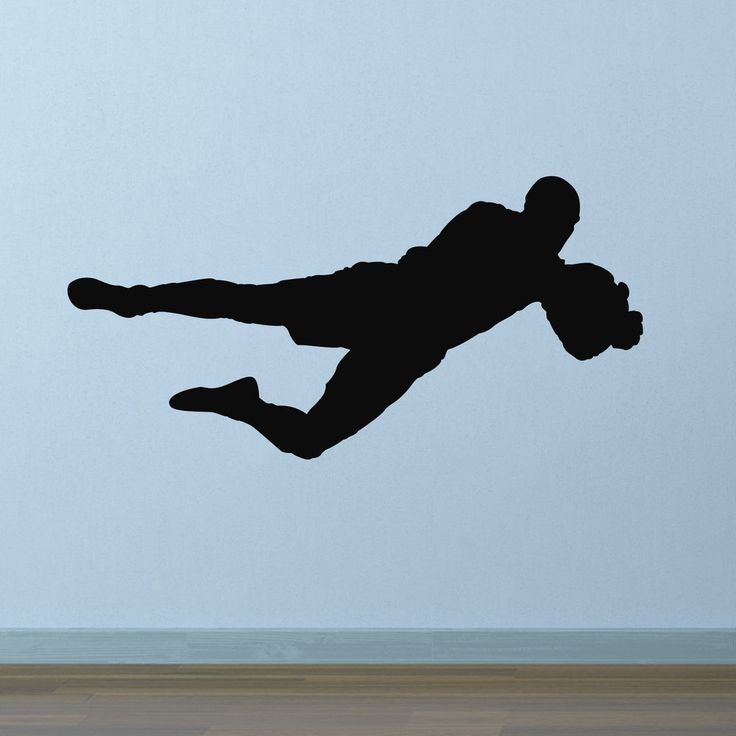 Football Goalkeeper Wall Decal / Sticker. Sport Themed Boys Bedroom /  Playroom In Home,