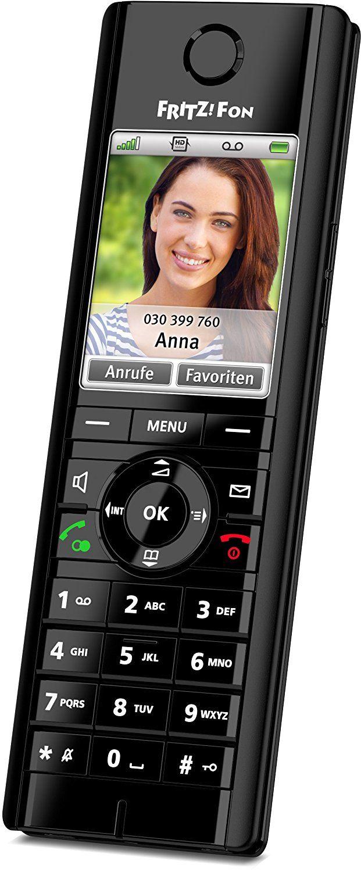 AVM FRITZ!Fon C5 DECT-Komforttelefon für FRITZ!Box (hochwertiges Farbdisplay, HD-Telefonie, Internet-/Komfortdienste, Steuerung FRITZ!Box-Funktionen), geeignet für Deutschland
