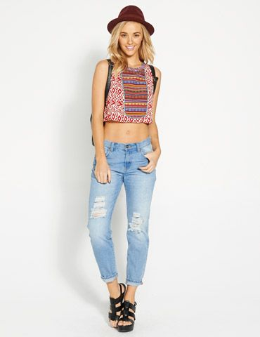Image for Morrocan Crop Top from Dotti