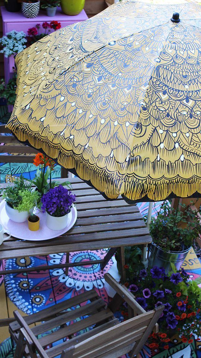 Painted Patio Umbrella
