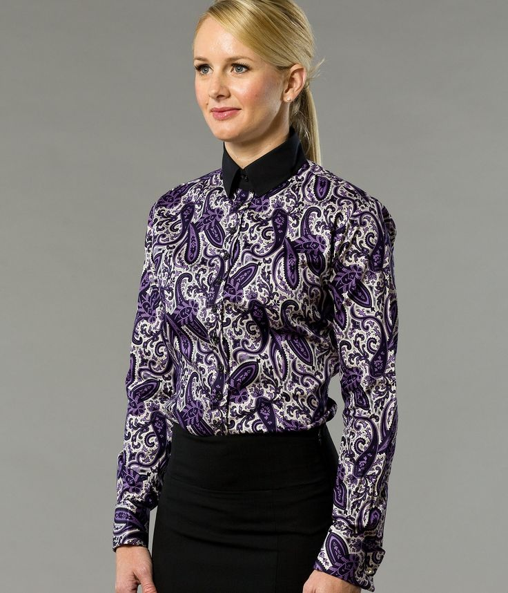 Prep in Purple Paisley Women's Business Shirt | Designed by The Shirt Muse