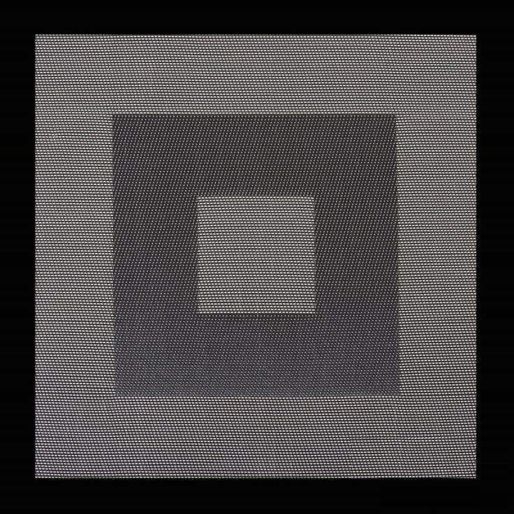 Podkładka kwadratowa pod talerze w kolorze biało czarnym