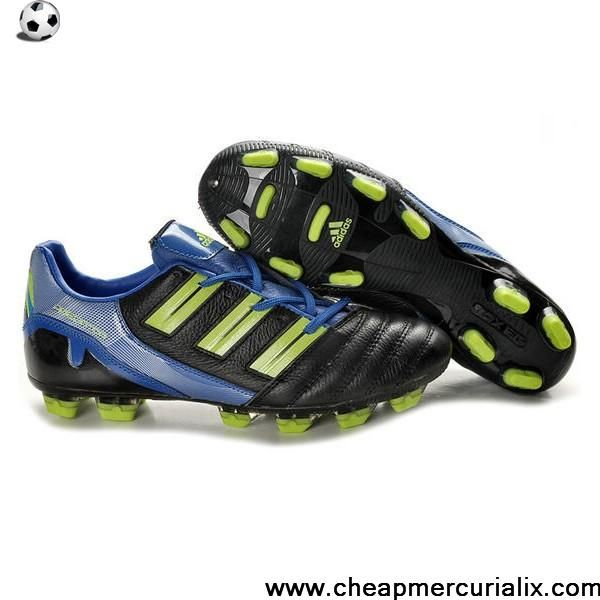 Buy 2013 New Adidas Predator XI TRX FG Boots Black Cyan Green Soccer Boots For Sale