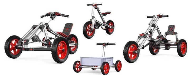 Infento - zestaw konstrukcyjny pozwalający dzieciom budować prawdziwe pojazdy