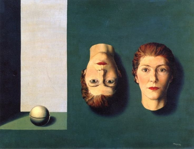 The Dual Reality~Rene Magritte   Lone Quixote